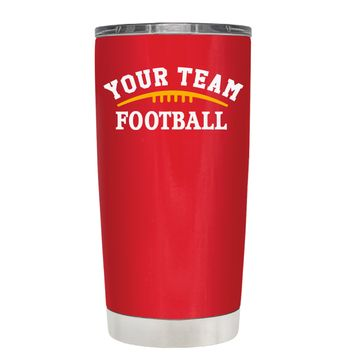 TREK Custom Football Team on Red 20 oz Tumbler Cup