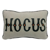 Halloween Hocus Pocus Reversible Throw Pillow (White)