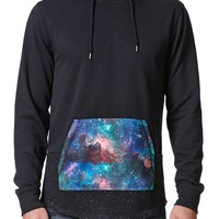 On The Byas Spacey Print Hoodie - Mens Shirt - Black