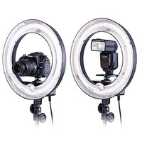 "Neewer® Camera Photo Video Ring Fluorescent Flash Light Kit, Includes(1)14""Outer 10""Inner 400W 5500K Lamp Ring Fluorescent Flash Light+(1)75""/190cm Photography Light Stands"