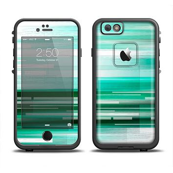 The Green Abstract Vector HD Lines Apple iPhone 6 LifeProof Fre Case Skin Set