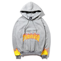 Thrasher Fashion Long-Sleeved Hooded Sweater
