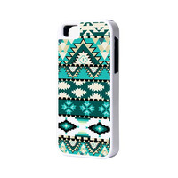 Green Aztec iPhone 6 Plus 6 5S 5 5C 4 Rubber Case