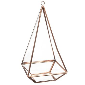 COPPER decorative glass pyramid H 21 cm | Maisons du Monde