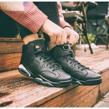 2017 air retro 6 shoes Black Cat Men Basketball Shoes 3M Reflective AAA+ quality Retro