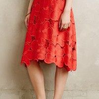 Lace Bouquet Skirt by Cynthia Rowley Red