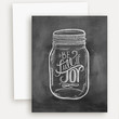 Be Full of Joy Jar Illustration - A2 Note Card
