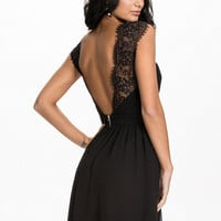 Open Back Lace Chiffon Dress, Elise Ryan