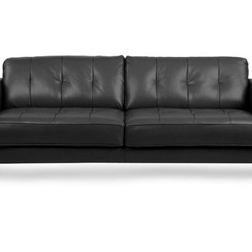 Dania - Leather Sofas - Gregata Leather Sofa-Black