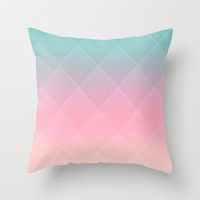 Quilted Love Throw Pillow by Pink Berry Pattern