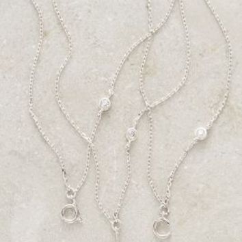 Lowercase Monogram Pendant Necklace by Anthropologie in Assorted Size: