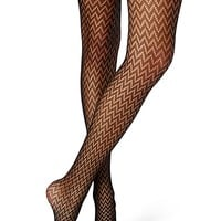 Diamond Netted Tights