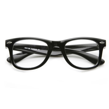 Retro Classic Horned Rim Frame RX Optical Clear Lens Glasses 8708