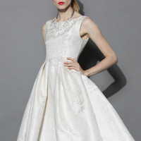 Glamour Night Prom Dress in Ivory  Beige