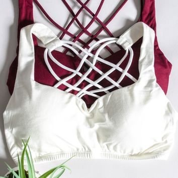 Strappy Padded Bralette | Colors