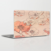 Painted Wild Roses Laptop & iPad Skin by ALLY COXON | Society6