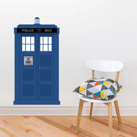 Full Color Wall Decal Mural Sticker Decor Art Doctor Who Tardis Police box Gift (col643)