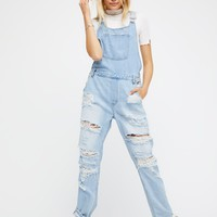 Free People Sweeper Denim Overalls