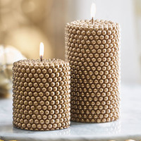 Golden Pearl Candle, Large