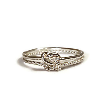 Double knot ring sterling silver