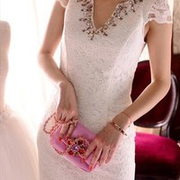 Elegant Lace Dress with Crystal from BAIANSY