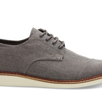 TOMS Grey Chambray Men's Brogues Grey