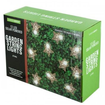 Silver Star Led Solar String Lights