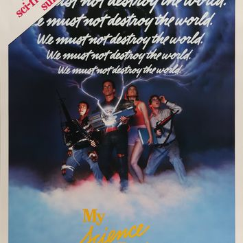 """My Science Project (1985) Vintage Movie Poster - 27"""" x 41"""""""