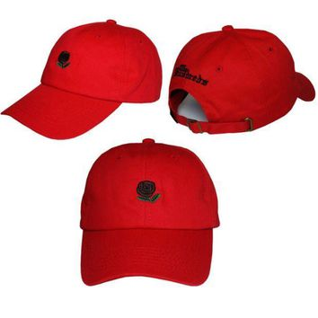 ESBC8S Red The Hundreds Rose Strap Cap Adjustable Golf Snapback Baseball Hat