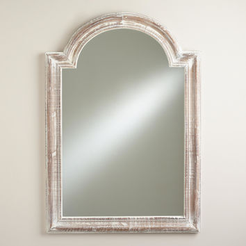 White Moroccan Aida Mirror - World Market