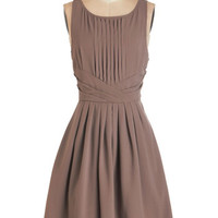 ModCloth Mid-length Sleeveless Fit & Flare Dramatically Simple Dress