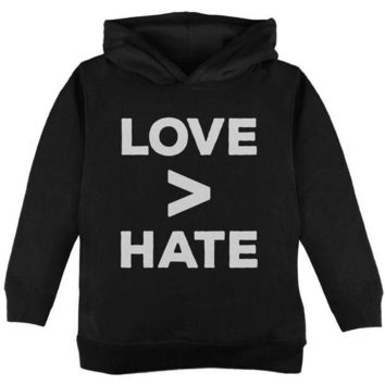 ICIK8UT Activist Love is Greater Than Hate Toddler Hoodie