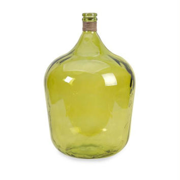 Glass Jug - Chartreuse Green