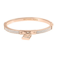 Michael Kors Pave Hinge Padlock Bangle, Rose Golden