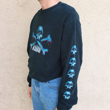 Vintage 90s WWF Stone Cold Steve Austin Long Sleeve Shirt Made in USA WWE