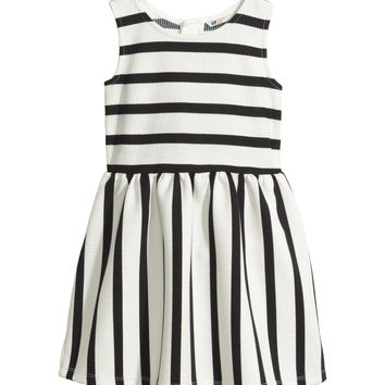 H&M - Striped Dress - Black/White striped - Kids