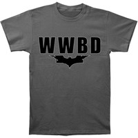 Batman Men's  Wwbd Dark Knight Logo T-shirt Grey Rockabilia