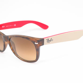 Ray-Ban RB 2132 New Wayfarer 6181/85 Matte Havana Sunglasses