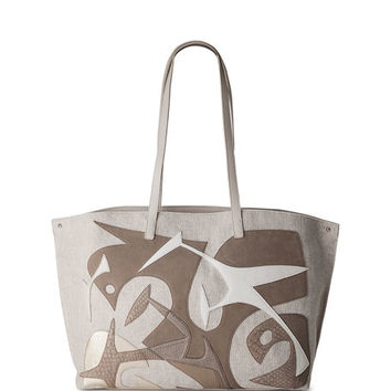 Akris Ai Medium Laser-Cut Tote Bag