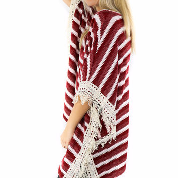 Dresden Tower Wine Striped Sweater