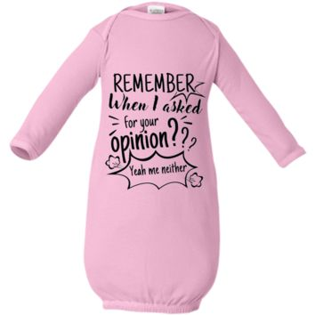 Remember When I Asked For Your Opinion? Infant Layette