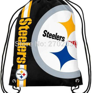Pittsburgh Steelers Drawstring Bags Men Sports Backpack Digital Printing Pouch Customize Bags 35*45cm Sports US Fottball Team