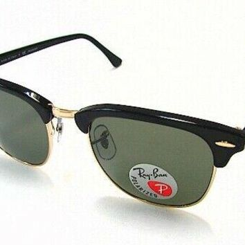 9b5080be56 Ray Ban Clubmaster RB3016 RB 3016 901 58 Black Polarized RayBan