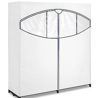 60-Inch Polypro Clothes Closet, White Garment Rack Portable Home Decor