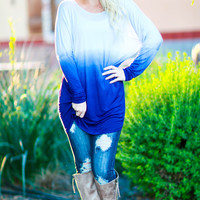 PAINTING WITH WATER COLORS TUNIC IN BLUE