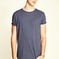 Dotted Cotton-Blend Tee