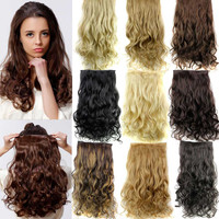 "5 Clip in Hair Extensions 23"" 120g Long Curly Hair Extensions Cheap Synthetic Hair Piece  Multicolor Available"