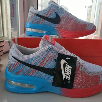 nike unisex sport casual multicolor fly line rainbow air cushion running shoes fashion couple sneakers