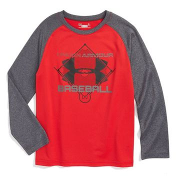 Under Armour Logo Graphic Baseball T-Shirt (Toddler Boys & Little Boys) | Nordstrom