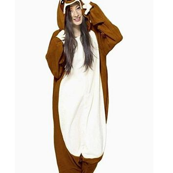 Kigurumi Adult Sloth Onesuits Pajamas Costume Cosplay Animal Sleepsuit Jumpsuits Pyjamas For Carnival Party
